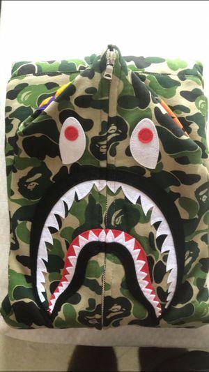 Bape abc full zip shark hoodie green for Sale in Ashburn, VA