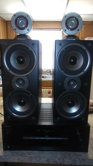 Onkyo AV Receiver TX-SR353 & Polk Audio MONITOR 40 SERIES 2 w/Remote & 2 Pyramid 300 Watts Tweeters for Sale in Sebring, FL