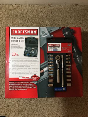 Craftsman Air tool kit 1pc and socket wrench set 20pc for Sale in Houston, TX