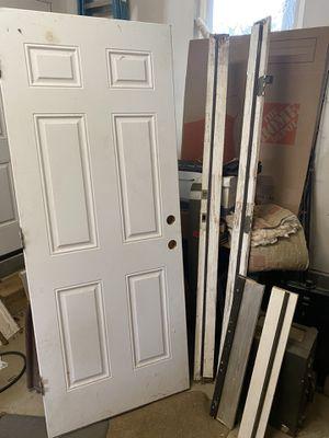 32 inch steel exterior door. left hand swing. New, never installed for Sale in Fairfax, VA