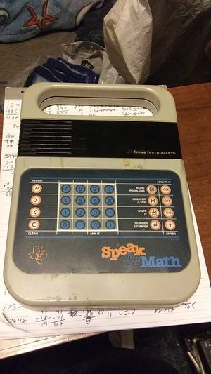 vintage Texas Instruments speak & math for Sale in Chicago, IL