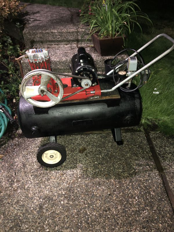 1936 W.M. B. Scaife & Sons Co. Air Compressor with Emerson Motor!