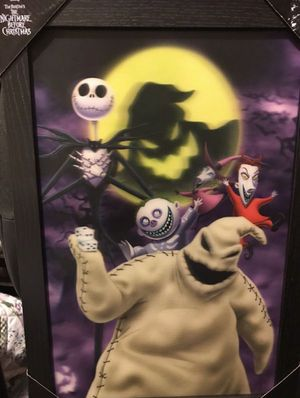 The nightmare before Christmas 3-D poster wall art for Sale in Chula Vista, CA