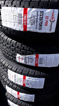 st225 75 r15 trailers tires 4new tires only $260 for Sale in Bonita,  CA