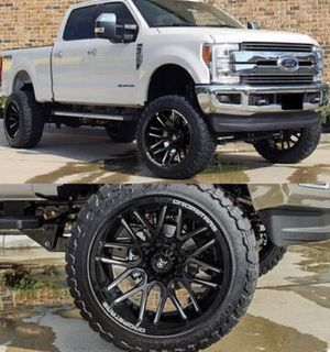 "20"" DROPSTARS Wheels & Tires Package: • 20x10 Rims Gloss Black (DS-654) • 33x12.50R20 M/T Tires Complete Package Only $1599 for Sale in La Habra, CA"