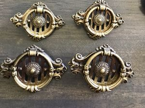 Set of antique brass drawer pulls for Sale in Auburn, WA