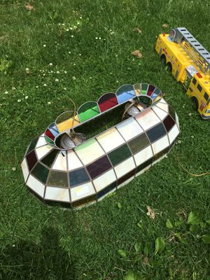 Stained glass pool table lamp or kitchen. Reduced today $50 for Sale in Jeannette, PA