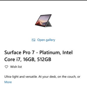 Surface Pro 7 Sale for Sale in Houston, TX