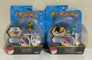 Pokemon Throw N Pop Poke Ball Figures Froakie and Chespin Lot of 2 for Sale in Coconut Creek, FL