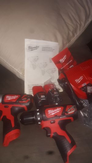 Milwaukee. Impact and Drill. Two batteries. Fast charger. First offer takes for Sale in Round Lake Heights, IL