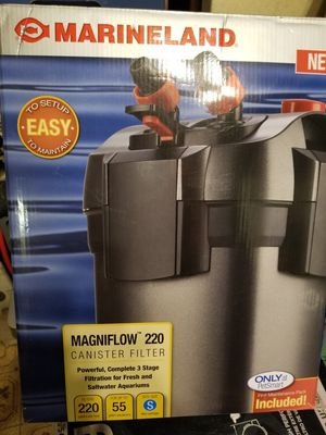 MARINELAND Magniflow 220 Canister filter for Sale in Monrovia, MD