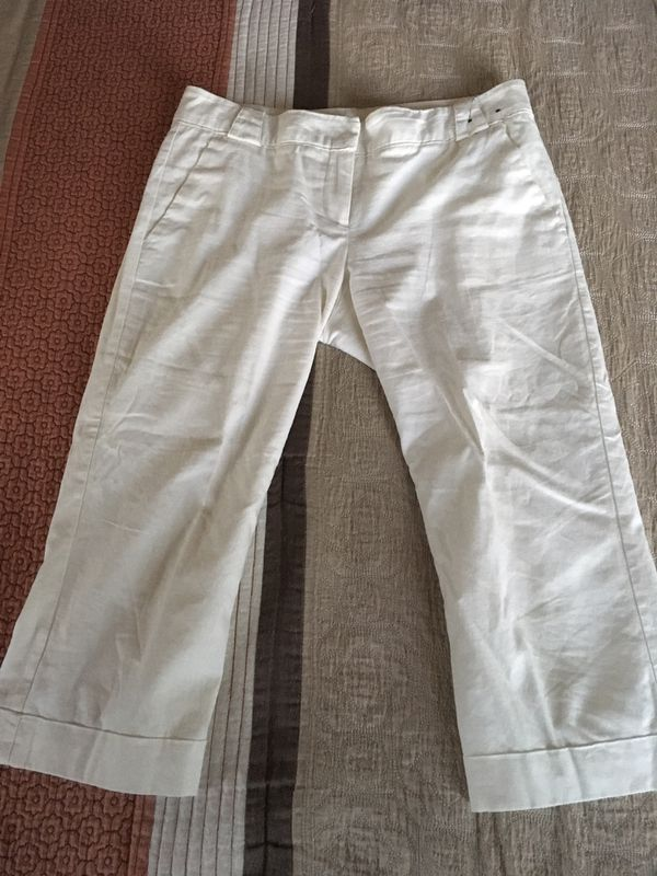 Women's New York & Company summer Casual crop dress pants size 2 color White