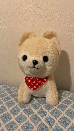 Cute large dog plush with bandana for Sale in Davis, CA