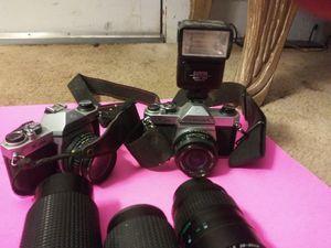 Two Asahi pentax k1000 cameras for Sale in Greenville, SC