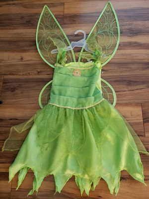 TinkerBell Halloween costume, kids size 4-6 for Sale in Denver, CO