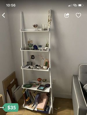 White tall bookcase shelves for Sale in Brooklyn, NY