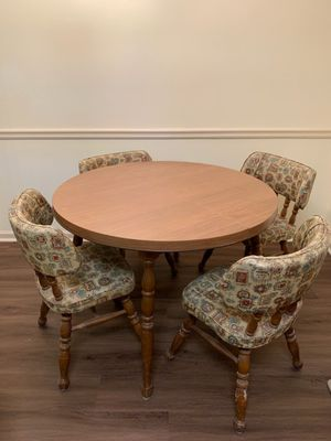 Table with 4 chairs and leaf for Sale in Acworth, GA