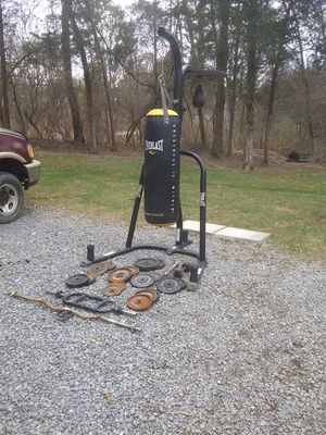 Everlast heavy bag and speed bag And double stand for Sale in Kearneysville, WV