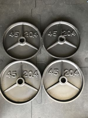 Olympic weights (4x45Lbs) for $110 Firm!!! for Sale in Burbank, CA