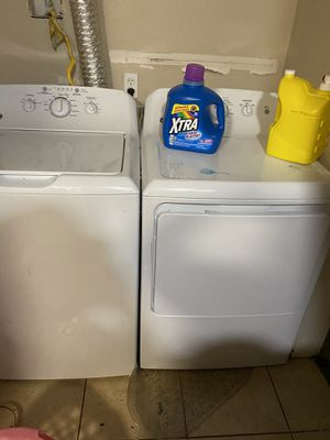 Washer and dryer still connected to show that it works and refrigerator for Sale in Houston, TX