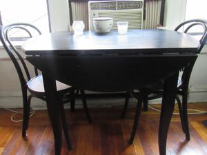 Fold Down Kitchen Table (Seats 4)- Black for Sale in New York, NY