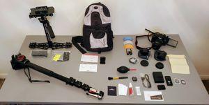 Canon Rebel T6i + Lens, Manfrotto Monopod, Glidecam, Accessories for Sale in Salt Lake City, UT