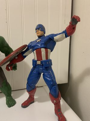 "Talking 9"" Captain America for Sale in San Antonio, TX"