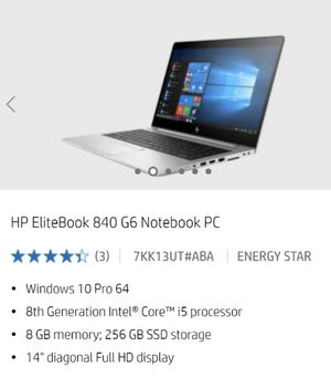 Hp Elitebook 840 G6 notebook PC for Sale in Glendale, CA