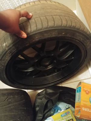 Mustang staggered wheels for Sale in Montgomery, AL