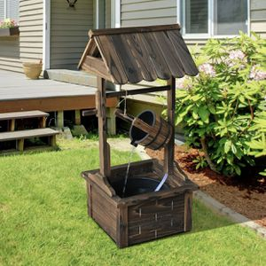 BRAND NEW Wishing Well Wood Fountain W/Electric Pump Garden Patio Deck Backyard Home Decor for Sale in San Marcos, CA
