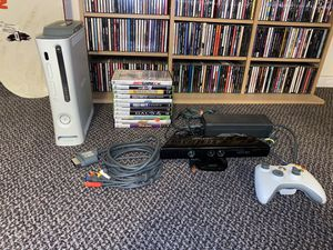 Xbox 360 W/ Kinect, Controller, & 11 Games for Sale in Bremerton, WA