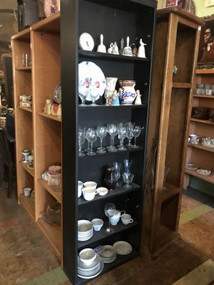 Black shelf bookcase 24 by 8 by 77 perfect for a small space for Sale in San Diego, CA
