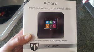 ALMOND TOUCH SCREEN WIRELESS N ROUTER + RANGE EXTENDER for Sale in Tacoma, WA