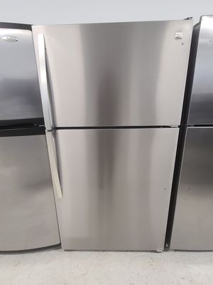 Kenmore stainless steel top freezer refrigerator used good condition with 90day's warranty for Sale in Hyattsville, MD