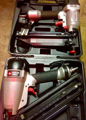 Like new porter cable Nailguns 15 gauge and 16 gauge for Sale in Los Angeles, CA