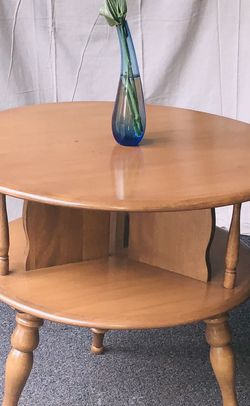 Baumritter 1962 Maple Drum End Table for Sale in Beaverton,  OR
