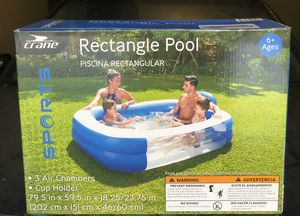 New 6.6ft pool IN BOX!!! Cup holder for Sale in Norcross, GA