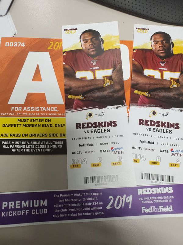 Redskins tickets