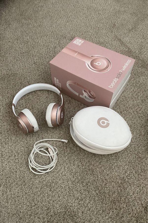 Rose gold beats solo 2 wireless