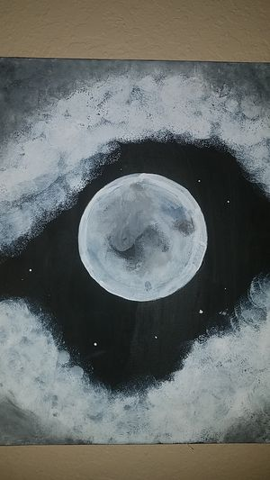 Moon acrylic painting for Sale in Helotes, TX