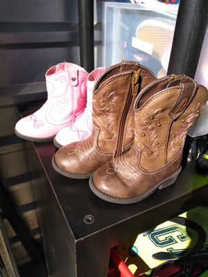 Girls cowboy boots Size 5 10 each Pickup is in Branford for Sale in Branford, CT