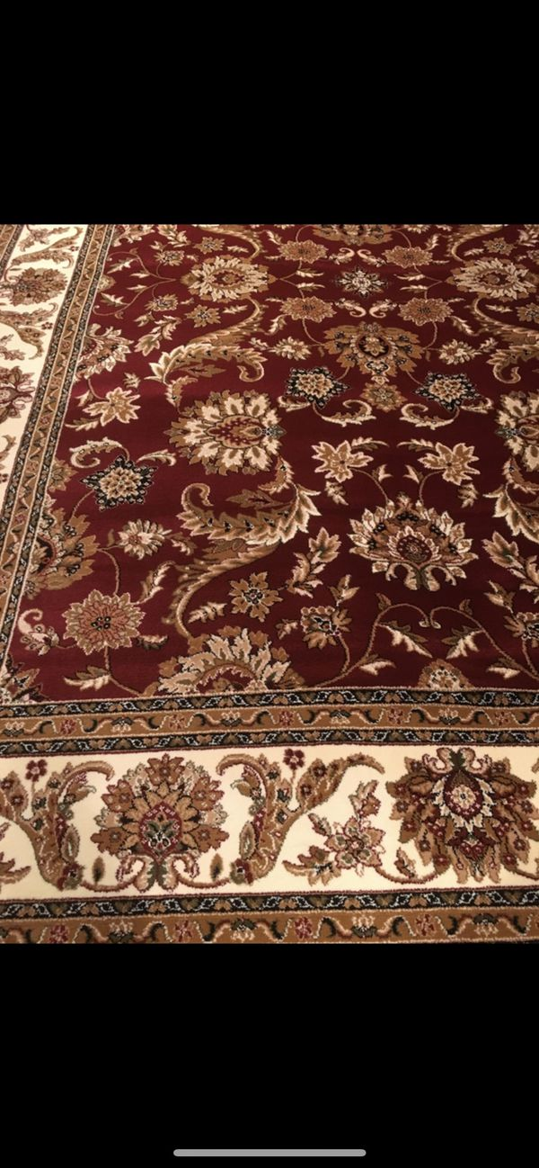 New classic style rug size 8x11 nice red carpet