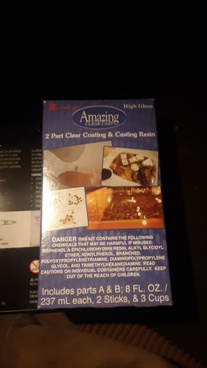 2 part clear coating and casting resin for Sale in Custer, WA