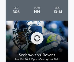 Seahawks vs Ravens: Face Value for Sale in Seattle, WA
