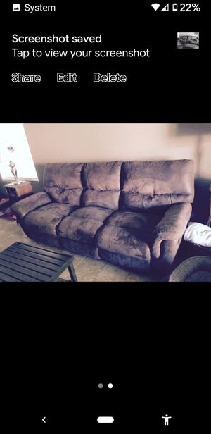 Brown couch 50 obo for Sale in Sun City, AZ
