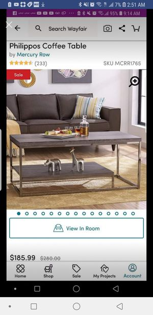 Coffee Table brand new grey color for Sale in Springfield, VA
