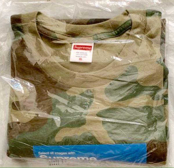 SUPREME Photo Verify Captcha Tee T Shirt Woodland Camo Size Men's XL X-Large Extra Large FW20 NEW SEALED RECEIPT