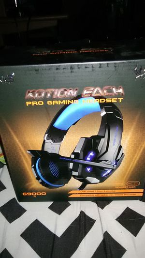 Kotion Each Pro Gaming Headset with LED Usb for Xbox PS4 and ECT for Sale in Lodi, CA