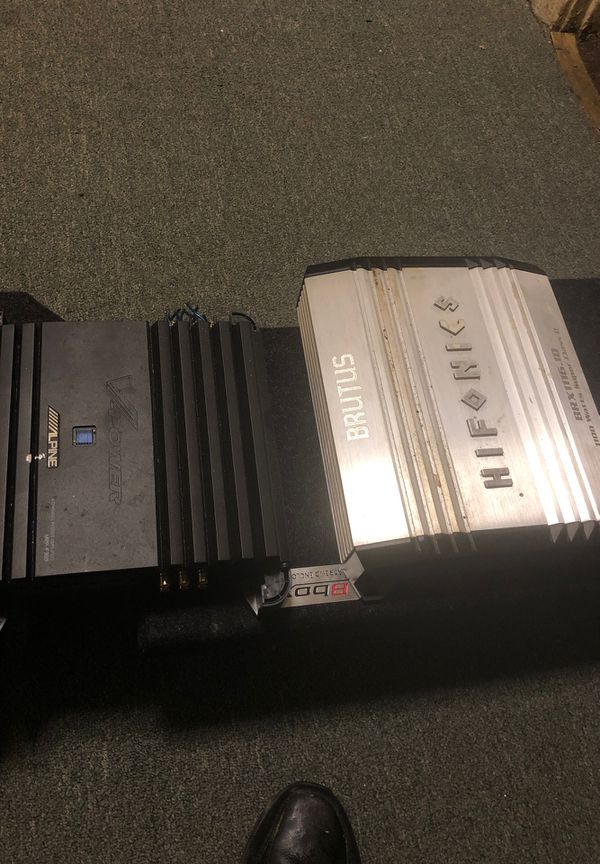 Sub and two amplifiers