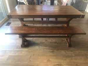 Farmhouse Style Kitchen Table with Bench and Chairs! for Sale in Las Vegas, NV